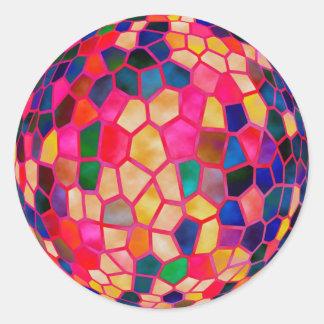 Sticker Rond Boule de cristal rougeoyante rouge-clair de SG