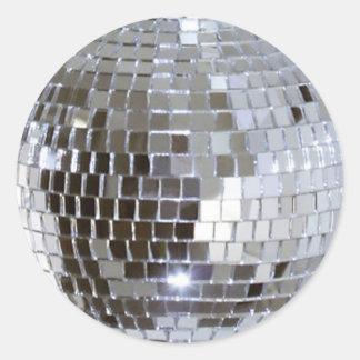 Sticker Rond Boule reflétée 1 de disco