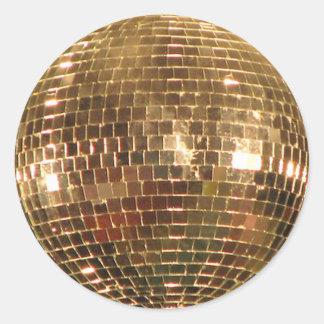 Sticker Rond Boule reflétée 2 de disco