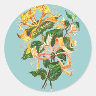 Sticker Rond Bouquet de chèvrefeuille