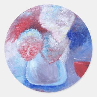Sticker Rond Bouquet par KatGibsonArt.JPG