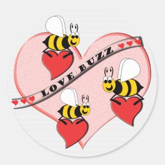 Sticker Rond Bourdonnement d'amour