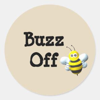 Sticker Rond Bourdonnement outre d'abeille
