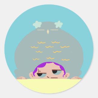 Sticker Rond boutons drôles de couples de he_cute