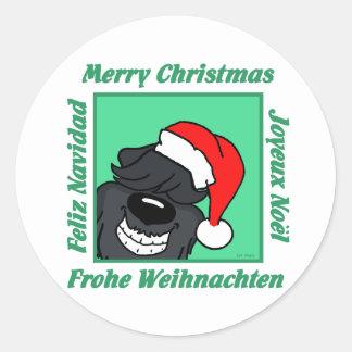 Sticker Rond Bouvier Noël