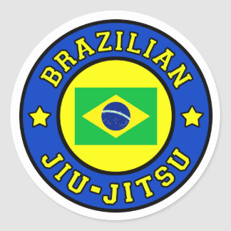 Sticker Rond Brésilien Jiu Jitsu