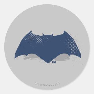 Sticker Rond Brosse de la ligue de justice   et symbole tramé