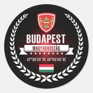Sticker Rond Budapest