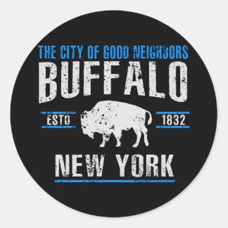 Sticker Rond Buffalo