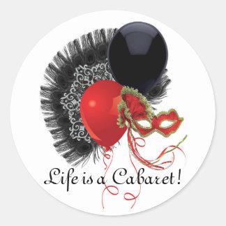 Sticker Rond Cabaret
