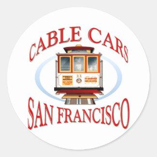 Sticker Rond Cadeau de San Francisco la Californie