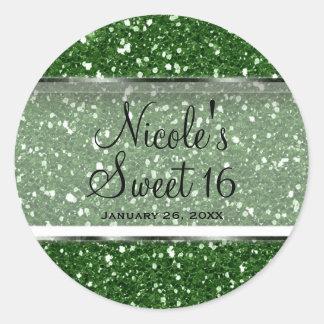 Sticker Rond Cadeau fascinant de coutume du bonbon 16 à parties