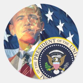 Sticker Rond Cadeaux 3 d'Obama