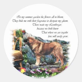 Sticker Rond Cadeaux d'art de Leonberger
