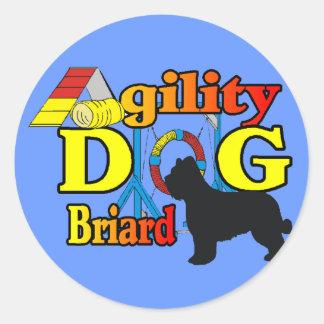 Sticker Rond Cadeaux de chemises d'agilité de Briard