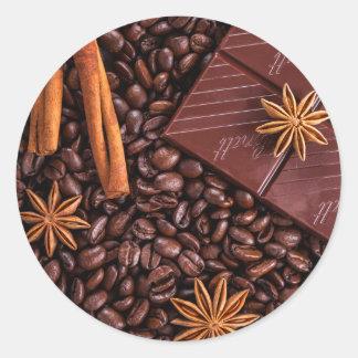 Sticker Rond café