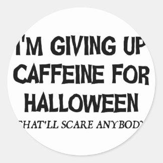 Sticker Rond Caféine pour Halloween