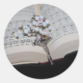 Sticker Rond cahier de musique de chapelet