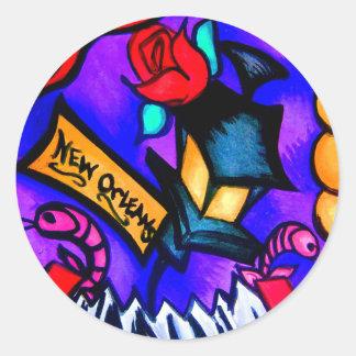 Sticker Rond Cajun Flava