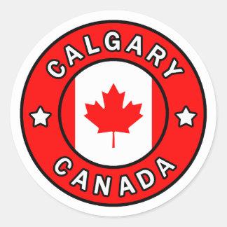 Sticker Rond Calgary Canada