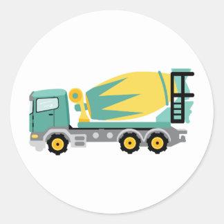 Sticker Rond Camion concret