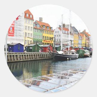 Sticker Rond Canal de Nyhavn à Copenhague, Danmark