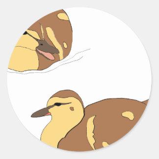 Sticker Rond canards de ferme