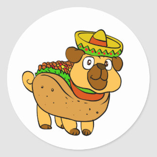 Sticker Rond Carlin de taco