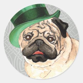 Sticker Rond Carlin du jour de St Patrick