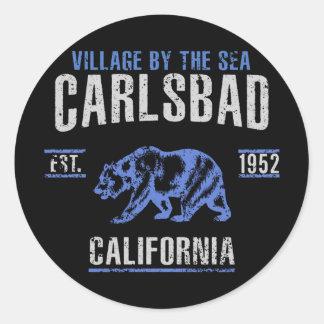 Sticker Rond Carlsbad