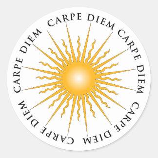 Sticker Rond Carpe Diem Sun