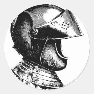 Sticker Rond Casque de chevalier