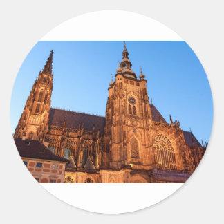 Sticker Rond Cathedral in Prague