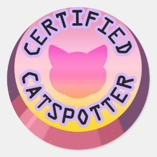 Sticker Rond Catspotter certifié