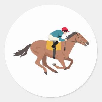 Sticker Rond Cavalier de cheval de Kentucky Derby