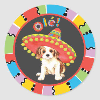 Sticker Rond Cavalier de fiesta