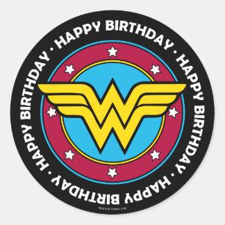 Sticker Rond Cercle de femme de merveille des bandes dessinées