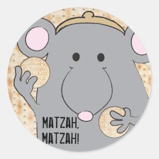 "Sticker Rond Cercle ""Matzah d'autocollant de pâque de Matzah """