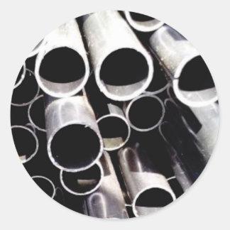 Sticker Rond cercles empilés d'acier