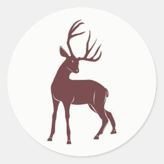 Sticker Rond Cerfs communs