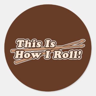 Sticker Rond C'est comment petit pain d'I (tambour)