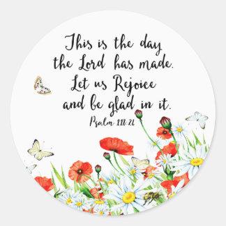 Sticker Rond C'est le jour où le seigneur a fait