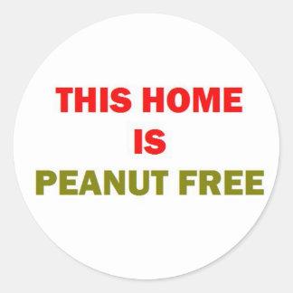 Sticker Rond Cette maison est arachide libre