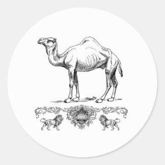 Sticker Rond chameau de fantaisie de lion