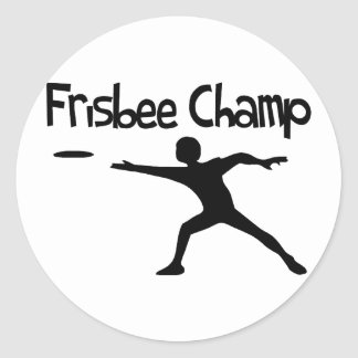 Sticker Rond Champion de frisbee