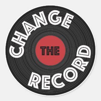 Sticker Rond Changez le disque !