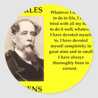 Sticker Rond Charles Dickens