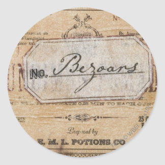 Sticker Rond Charme | Bezoars de Harry Potter