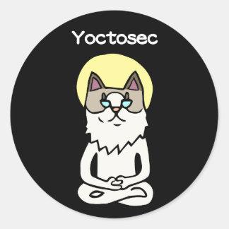 Sticker Rond Chat d'éclaircissement de Yoctosec
