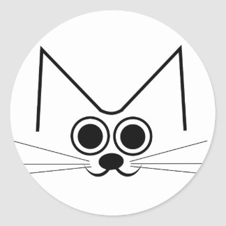 Sticker Rond Chat stylisé